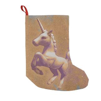 Petite Chaussette De Noël Bas de Noël de licorne (lavande en métal)