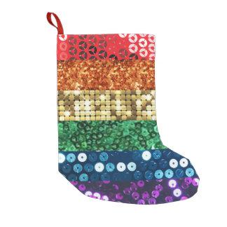 Petite Chaussette De Noël bas de Noël de Noël de drapeau de fierté de