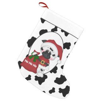 Petite Chaussette De Noël Bas de Noël de vacances de vache à Père Noël de