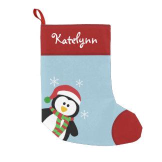Petite Chaussette De Noël Bas de Noël personnalisé par pingouin mignon