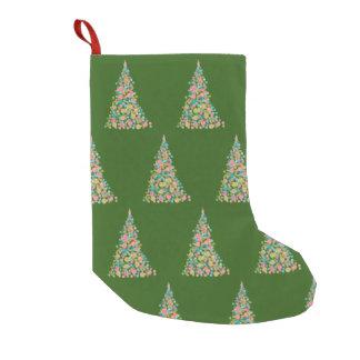 Petite Chaussette De Noël Bas fait sur commande de Noël d'arbre de vacances