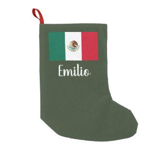 Petite Chaussette De Noël Bas personnalisé de Noël de drapeau mexicain
