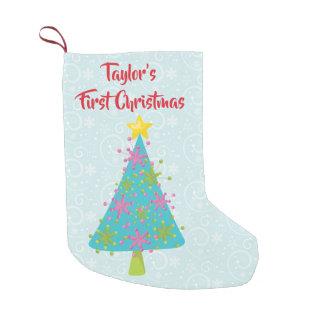 Petite Chaussette De Noël Bébé d'arbre de Noël d'abord