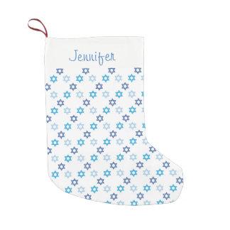 Petite Chaussette De Noël Belle étoile de David juive de thème de Hanoukka