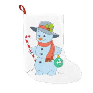 Petite Chaussette De Noël Bonhomme de neige d'hiver
