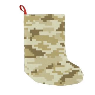 Petite Chaussette De Noël Camouflage/Camo de désert de pixel de 8 bits