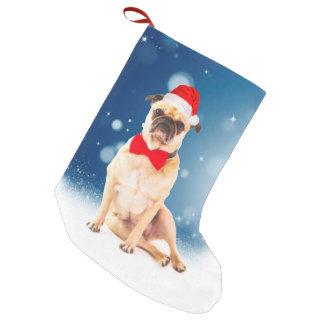 Petite Chaussette De Noël Carlin avec le casquette de Père Noël de Noël