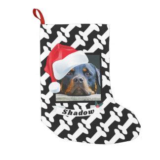 Petite Chaussette De Noël Casquette de Père Noël pour le nom de photo