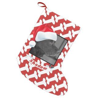 Petite Chaussette De Noël Casquette de Père Noël pour le rouge de nom de