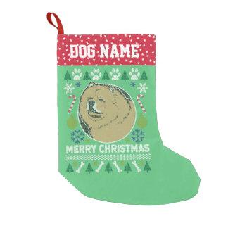Petite Chaussette De Noël Chandail laid de Noël de race de chien de bouffe