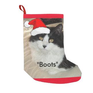 Petite Chaussette De Noël Chat noir et blanc de Noël