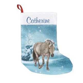 Petite Chaussette De Noël Cheval dans le bas fait sur commande de scène