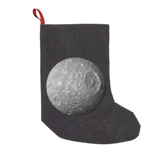 Petite Chaussette De Noël Ciel étoilé de Mimas de lune de Saturn