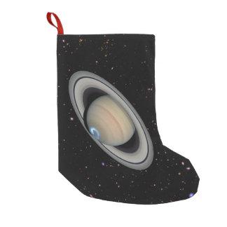 Petite Chaussette De Noël Ciel étoilé de Saturn de planète