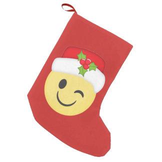 Petite Chaussette De Noël Cligner de l'oeil le bas de vacances d'Emoji de