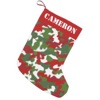 Petite Chaussette De Noël Coutume militaire de camouflage de bas de Noël de