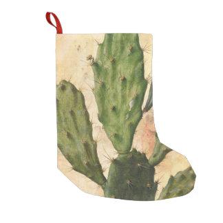 Petite Chaussette De Noël cru rustique de cactus