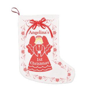 Petite Chaussette De Noël ęr Ange de Noël pour le nom de coutume de bébé