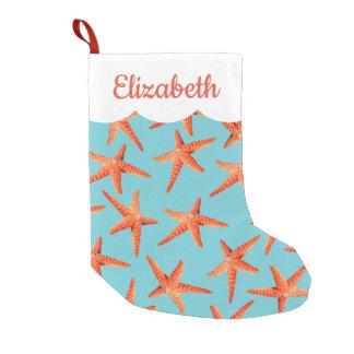 Petite Chaussette De Noël Étoiles de mer côtières pour la plage de Noël