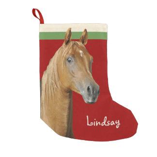 Petite Chaussette De Noël Filles de rouge de cheval de Brown