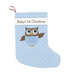 Petite Chaussette De Noël Hibou mignon de ęr Noël du bébé