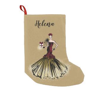 Petite Chaussette De Noël Illustration de mode de Noël avec le colis