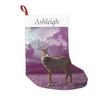Petite Chaussette De Noël Imaginaire de pourpre de renne