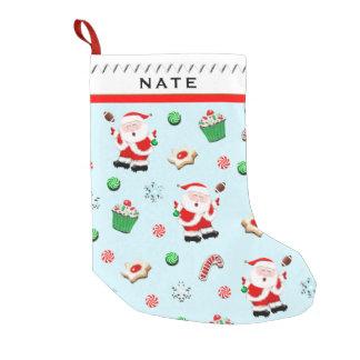 Petite Chaussette De Noël Le football Père Noël
