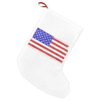 Petite Chaussette De Noël Le Kansas a formé le drapeau américain