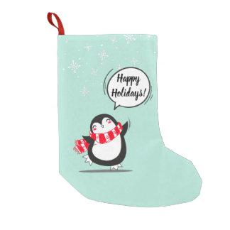 Petite Chaussette De Noël Le pingouin mignon