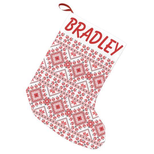 Petite chaussette de no l le rouge et le blanc ont tricot le bas de no l de - Le rouge et le blanc ...
