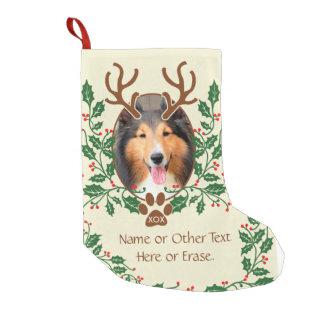 Petite Chaussette De Noël Les andouillers de Noël pour le chien/chat