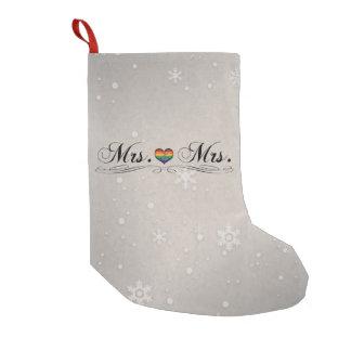 Petite Chaussette De Noël Mme et Mme Lesbian Design