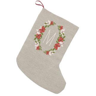 Petite Chaussette De Noël Monogramme de vacances de traditions