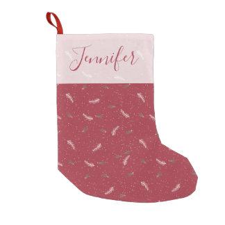 Petite Chaussette De Noël Motif à la mode de Noël rouge et blanc d'hiver