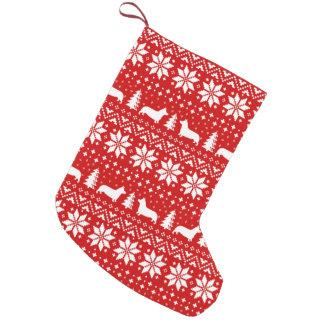 Petite Chaussette De Noël Motif de Noël de silhouettes de corgi de Gallois