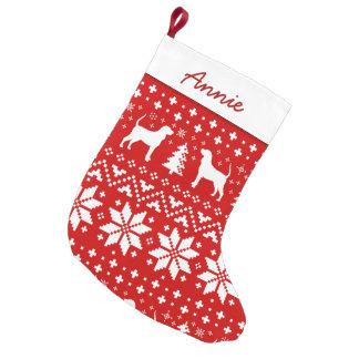 Petite Chaussette De Noël Motif de silhouettes de Coonhound