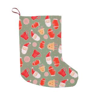 Petite Chaussette De Noël Motif mignon vintage de Noël