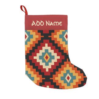 Petite Chaussette De Noël Motif roumain traditionnel d'art populaire
