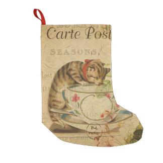 Petite Chaussette De Noël No. vintage 8 de chat