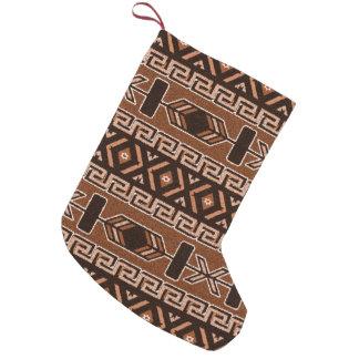 Petite Chaussette De Noël Noël aztèque tribal Brown de sud-ouest de motif