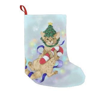 Petite Chaussette De Noël Noël de chat de Kitty