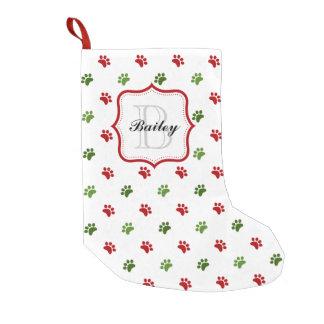 Petite Chaussette De Noël Noël de nom d'animal domestique personnalisé par