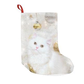Petite Chaussette De Noël Noël persan blanc de minou