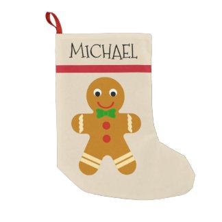 Petite Chaussette De Noël Nom fait sur commande de fête de bonhomme en pain