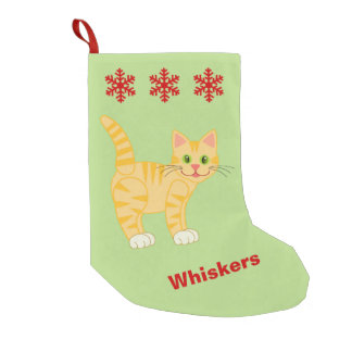 Petite Chaussette De Noël Nom fait sur commande facultatif de Kitty de chat