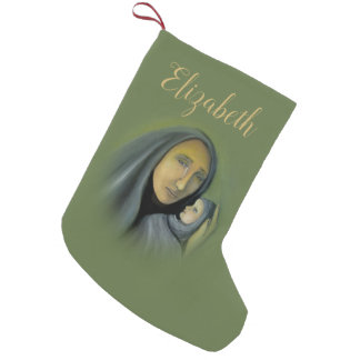 Petite Chaussette De Noël Nom religieux de Noël de Jésus de bébé de Vierge