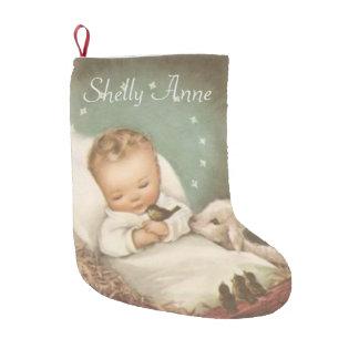 Petite Chaussette De Noël Personnalisez le bébé Jésus