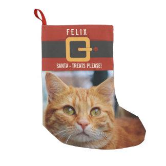 Petite Chaussette De Noël Photo drôle et nom de chat du père noël