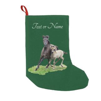 Petite Chaussette De Noël Poulain mignon de Dulmen de jument sauvage de